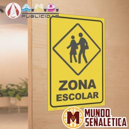 Señalética Zona Escolar