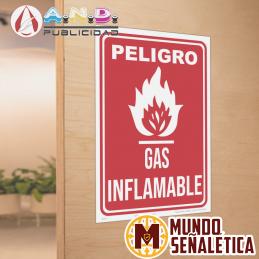 Señalética Peligro Gas...