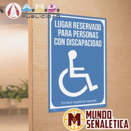 Señalética Reservado Para...
