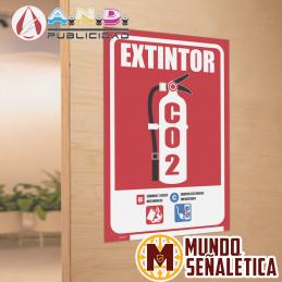 Señalética Extintor C02
