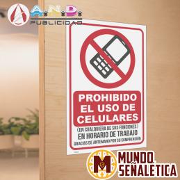 Señalética Prohibido Uso de...