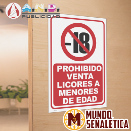 Señalética Prohibido Venta...