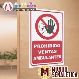 Señalética Prohibido Ventas...