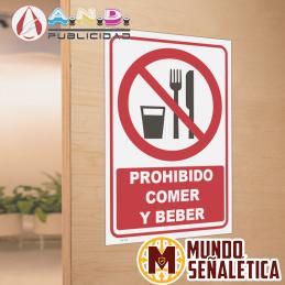 Señalética Prohibido Comer...