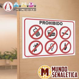 Señalética Prohibido