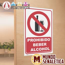 Señalética Prohibido Beber...